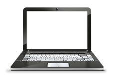 computer portatile con lo schermo bianco in bianco vuoto Fotografie Stock Libere da Diritti