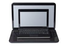 Computer portatile con netbook Fotografia Stock