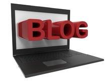 Computer portatile - concetto del blog Fotografie Stock Libere da Diritti