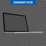 Computer portatile creativo astratto Modello isolato su fondo Modello isometrico di stile 3D Per il web e l'arte mobile di clipar Fotografie Stock