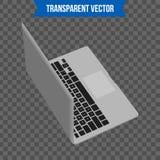 Computer portatile creativo astratto Modello isolato su fondo Modello isometrico di stile 3D Per il web e l'arte mobile di clipar Fotografie Stock Libere da Diritti