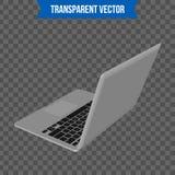 Computer portatile creativo astratto Modello isolato su fondo Modello isometrico di stile 3D Per il web e l'arte mobile di clipar Fotografia Stock Libera da Diritti
