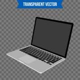 Computer portatile creativo astratto Modello isolato su fondo Modello isometrico di stile 3D Per il web e l'arte mobile di clipar Fotografia Stock