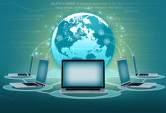 Computer portatile dei gruppi delle comunicazioni elettroniche Immagini Stock