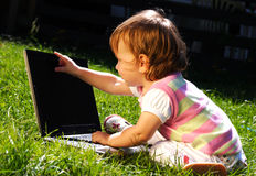 computer portatile del bambino Immagini Stock