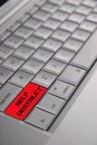 Computer portatile del calcolatore di Destruct di auto Fotografie Stock Libere da Diritti
