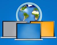 Computer portatile del computer Fotografie Stock