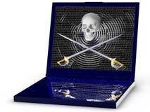 Computer portatile del pirata Immagine Stock Libera da Diritti