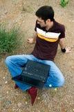 computer portatile del tirante Fotografie Stock Libere da Diritti