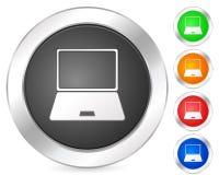 Computer portatile dell'icona del calcolatore Fotografia Stock Libera da Diritti