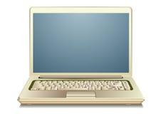 Computer portatile dell'oro Fotografia Stock