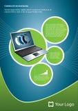 Computer portatile della priorità bassa Fotografie Stock Libere da Diritti