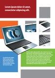 Computer portatile della priorità bassa Fotografia Stock