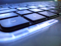 Computer portatile della tastiera Fotografia Stock Libera da Diritti