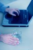 Computer portatile di affari Fotografia Stock