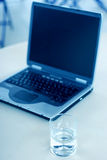 Computer portatile di affari Fotografie Stock