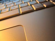 Computer portatile di alluminio Fotografia Stock Libera da Diritti