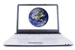 Computer portatile di alta tecnologia Fotografia Stock Libera da Diritti