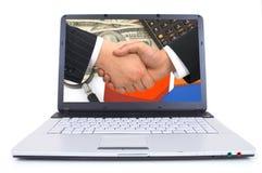 Computer portatile di alta tecnologia Fotografia Stock