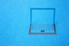 Computer portatile di carta Immagine Stock