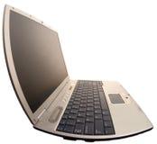 Computer portatile di distorsione alla parte di sinistra Fotografie Stock