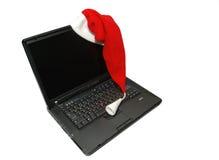 Computer portatile di natale Fotografia Stock