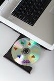 Computer portatile di natale immagini stock
