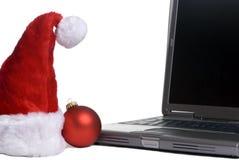 Computer portatile di natale Immagini Stock Libere da Diritti