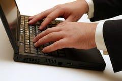 Computer portatile - digitando Immagini Stock Libere da Diritti