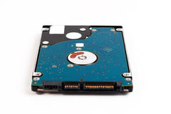 Computer portatile 2 Disco rigido a 5 pollici di SATA isolato su un fondo bianco Fotografie Stock Libere da Diritti