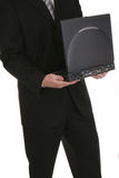 Computer portatile due di affari fotografie stock libere da diritti