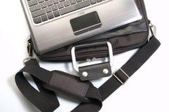 Computer portatile e borsa Immagini Stock Libere da Diritti