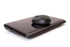 Computer portatile e mouse Immagine Stock Libera da Diritti