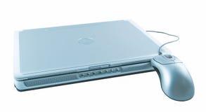 Computer portatile e mouse Fotografia Stock Libera da Diritti