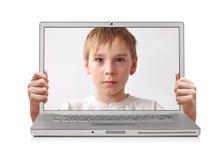 Computer portatile interno Fotografia Stock