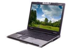Computer portatile isolato Fotografia Stock