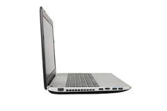 Computer portatile nel fondo bianco Fotografia Stock Libera da Diritti