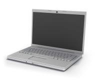 Computer portatile isolato [percorso di residuo della potatura meccanica] Fotografia Stock Libera da Diritti