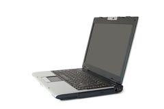 Computer portatile isolato su bianco fotografia stock libera da diritti