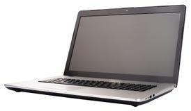 Computer portatile isolato su bianco Fotografia Stock