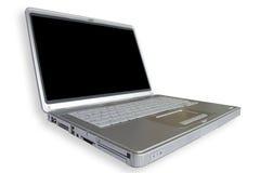 Computer portatile largo Fotografie Stock Libere da Diritti
