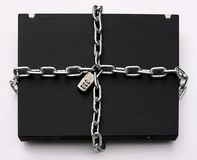 Computer portatile Locked fotografia stock libera da diritti