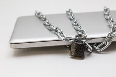 Computer portatile Locked Immagini Stock