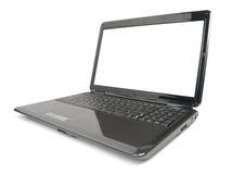 Computer portatile lucido moderno Fotografie Stock Libere da Diritti