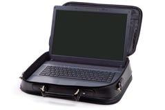Computer portatile messo Fotografie Stock Libere da Diritti