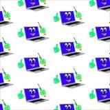 Computer portatile moderno con il cacciavite isolato su fondo bianco Immagine Stock Libera da Diritti