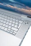 Computer portatile moderno ed alla moda Immagini Stock Libere da Diritti