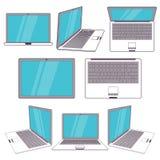 Computer portatile moderno Vettore Fotografia Stock
