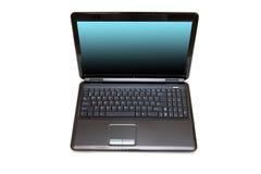 Computer portatile nero Fotografie Stock Libere da Diritti
