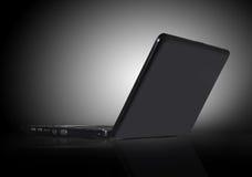 Computer portatile nero Fotografia Stock